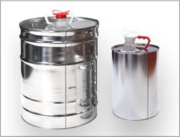 Envases metalicos con tapa fija